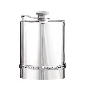 6oz Captive Top Pewter Flask - IP901CT