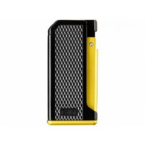 Colibri Monza III - Triple Jet Lighter - Black & Anodized Yellow (End of Line)