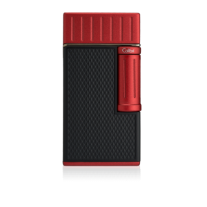 Colibri Julius Classic Double-flame Cigar Lighter - Black & Red Lid (End of Line)