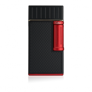 Colibri Julius Classic Double-flame Cigar Lighter - Black & Red