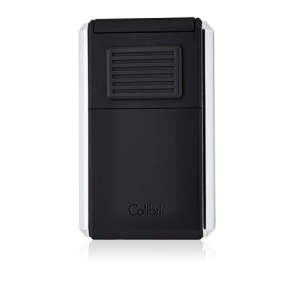 Colibri Astoria Triple Jet Flame Lighter - Matte Black & Polished Chrome
