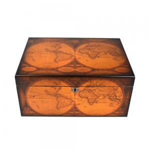 SALE - SLIGHT SECONDS - Capri Old World Antique Map Humidor - 75 -100 Capacity