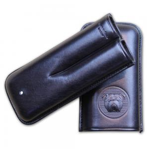 Dunhill Bulldog Cigar Case Robusto - Black - Fits 2 Cigars