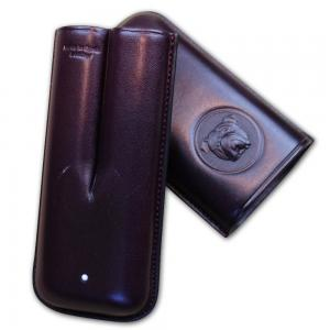 Dunhill Bulldog Cigar Case Robusto - Purple - Fits 2 Cigars