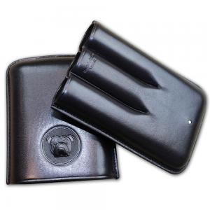 Dunhill Bulldog Cigar Case Robusto - Black Fits 3 Cigars