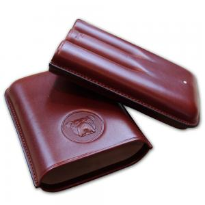 Dunhill Bulldog Cigar Case Robusto - Brown - Fits 3 Cigars