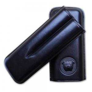 Dunhill Bulldog Cigar Case Corona Extra - Black - Fits 2 Cigars