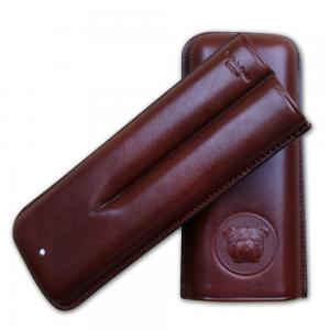 Dunhill Bulldog Cigar Case Corona Extra - Brown - Fits 2 Cigars