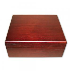 Prestige Chardonnay Cigar Humidor - Dark Walnut Finish - 50 Cigar Capacity