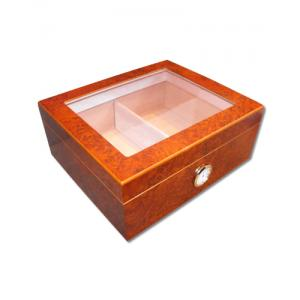 Eaton Glass Top Cigar Humidor - Best Seller - 40 Cigars Capacity