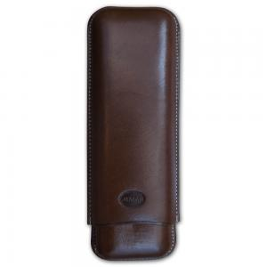 Jemar Leather Cigar Case – 2 Finger - 70 RG - Brown