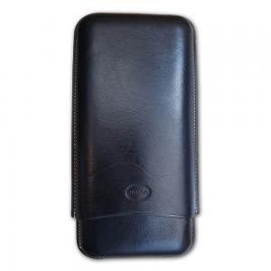 Jemar Leather Cigar Case – 3 Finger - 70 RG - Black