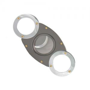 Classic Round Edge Cigar Cutter - Chrome/Gun Metal