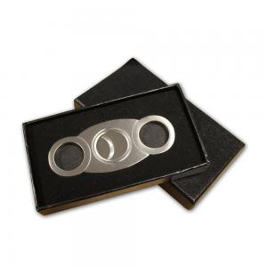 Stainless Steel With Back Stop Cigar Cutter