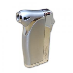 Vector Dupla Dual Jet Cigar Lighter - Satin Chrome (End of Line)