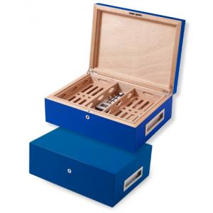 Villa Spa Cigar Humidor - up to 200 Cigar Capacity - Dark Blue - Fast Dispatch Available