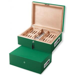 Villa Spa Cigar Humidor - up to 200 Cigar Capacity - Green