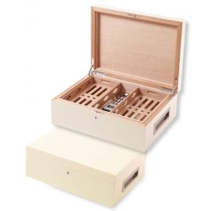 Villa Spa Cigar Humidor - up to 200 Cigar Capacity - White - Fast Dispatch Available