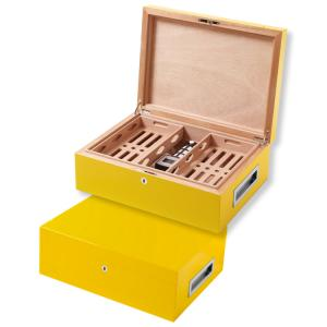 Villa Spa Cigar Humidor - up to 200 Cigar Capacity - Yellow - Fast Dispatch Available