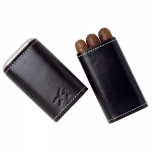 Xikar Leather Cigar Case - 3 Cigars - Black - BLACK FRIDAY