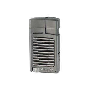 Xikar Forte Single Jet Cigar Lighter with Punch - Gunmetal (G2)