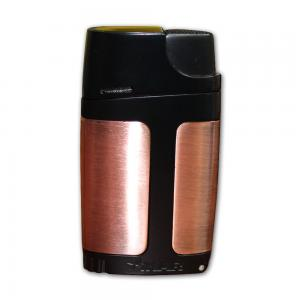 Xikar Element ELX Twin Jet Lighter with Punch Cutter - Bronze