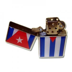 Cuban Flag Petrol Lighter