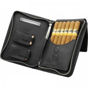 Adorini Leather Cigar Bag Black Stitching