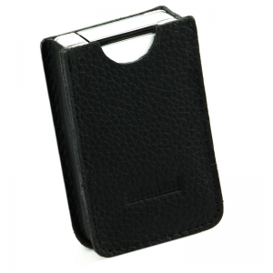 Adorini Leather Black Jet Lighter Case