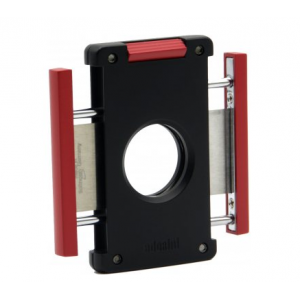 Adorini Cigar Cutter Neptune - Solingen Blades - Matt Black/Red