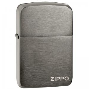 Zippo - Black Ice 1941 Replica With Zippo Logo - Windproof Lighter