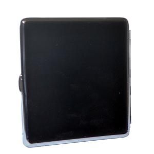 Angelo Black Felt Cigarette Case - Holds 16 Kingsize Cigarettes