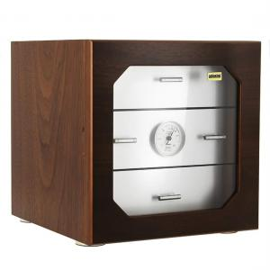 SLIGHT SECONDS - Adorini Chianti Deluxe Walnut/Aluminium Cigar Humidor - 100 Cigar Capacity