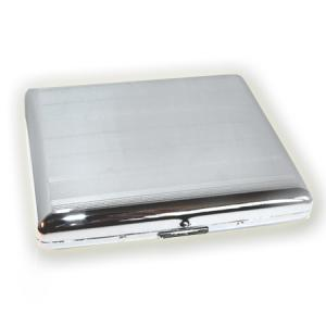 Cigarette / Cigarillo Case – Chrome Finish - Double Sided