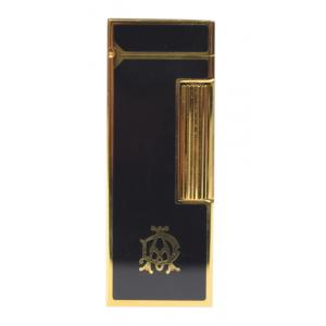 Dunhill Rollagas Lighter - Black Lacquer & Gold Plated Frame