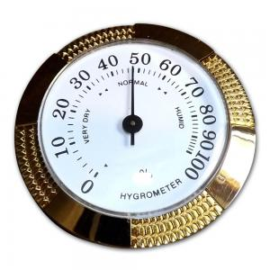 Analogue Hygrometer – Medium – Brass Finish – 2 1/2 inch