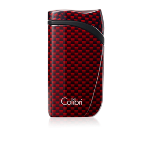 Colibri Falcon Carbon Fiber Single-jet Flame Lighter - Red - CHRISTMAS GIFT