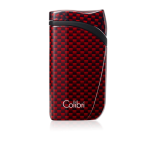 Colibri Falcon Carbon Fiber Single-jet Flame Lighter - Red
