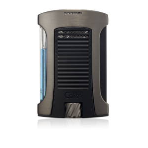 Colibri Daytona Single-jet Flame Lighter - Gunmetal & Black