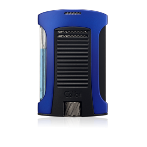 Colibri Daytona Single-jet Flame Lighter - Blue & Black