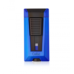 Colibri Stealth Triple Flame Lighter - Metallic Blue & Black