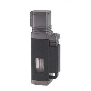 Vertigo Lotus Churchill - Quad Torch Flame Lighter - Black