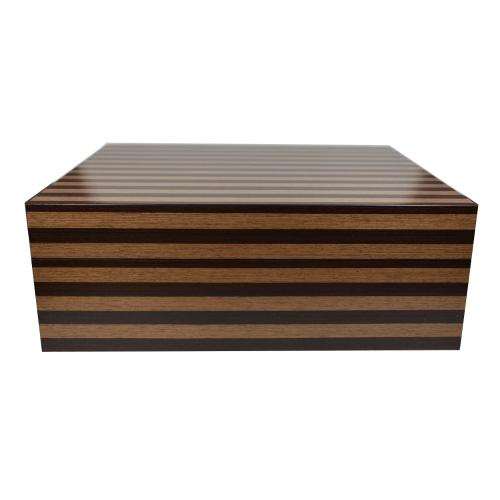 Jemar Indian Collection Light Brown Stripe Humidor - 70 Cigar Capacity - CHRISTMAS GIFT