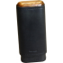 Adorini Leather Adaptable Black Wooden Top & Bottom Cigar Case - 2/3 Cigar Capacity